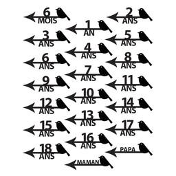 Abricotine Abricotine - Autocollants Marqueurs de Temps, Oiseaux