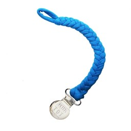 Petit Tot Petit Tot - Jersey Braided Pacifier Clip, Royal Blue