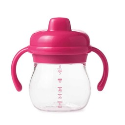 OXO OXO - Gobelet de Transition à Poignée/Transition Sippy Cup with Handles, Rose/Pink
