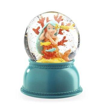Djeco Djeco - Snow Globe Night Light, Mermaid