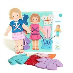 Djeco Djeco - So chic! Figurine Lacing Game