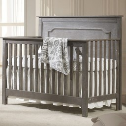 Natart Juvenile DEMO SALE - NATART NEST - Emerson Set Grigio Convertible Bed 5-in-1 with Wood Pannel and Double Dresser