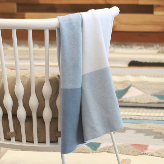 UPPAbaby Uppababy - Couverture en Tricot, Bleu