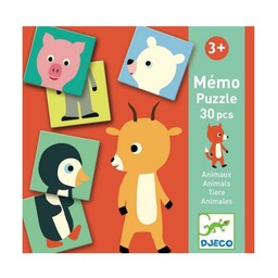 Djeco Djeco - Jeu Memo Animo-Puzzle