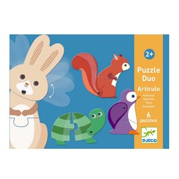 Djeco Djeco - Duo Puzzle, Articulo Animals