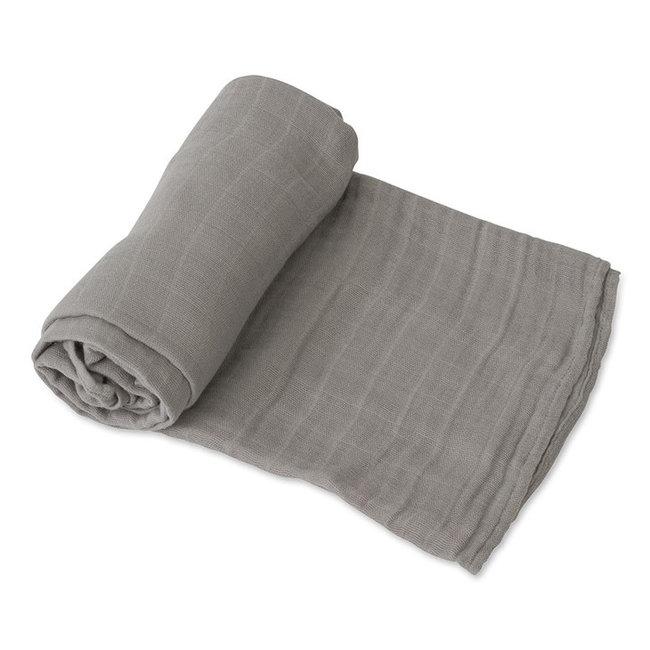 Little Unicorn Little Unicorn - Single Cotton Muslin Blanket, Nickel