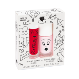 Nailmatic Nailmatic - Coffret Duo de Brillant à Lèvres et Vernis, Kids Cottage