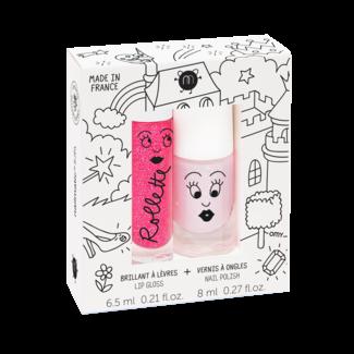 Nailmatic Nailmatic - Lip Gloss and Nail Polish Gift Set, Fairy Tales