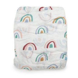 Loulou Lollipop Loulou Lollipop - Bamboo Fitted Crib Sheet, Rainbow