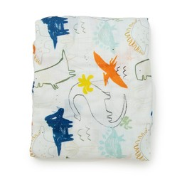 Loulou Lollipop Loulou Lollipop - Bamboo Fitted Crib Sheet, Dinoland