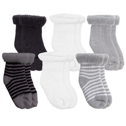 Kushies Kushies - Pack of 6 Pairs of Terry Socks, Grey