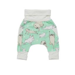 Little Yogi Little Yogi - Grow With Me Pants, Green Little Pugs