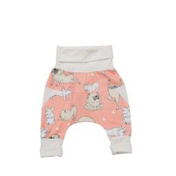 Little Yogi Little Yogi - Grow With Me Pants, Coral Little Pugs