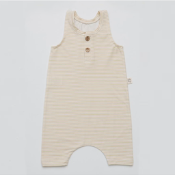 Little Yogi Little Yogi - Romper, Little Beige Stripes