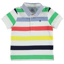 Mayoral Mayoral - Striped Polo Shirt, Celery