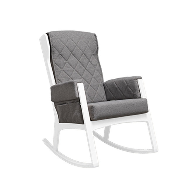Dutailier Dutailier, Margot - Glider Chair, White Dark Grey, Stock Program