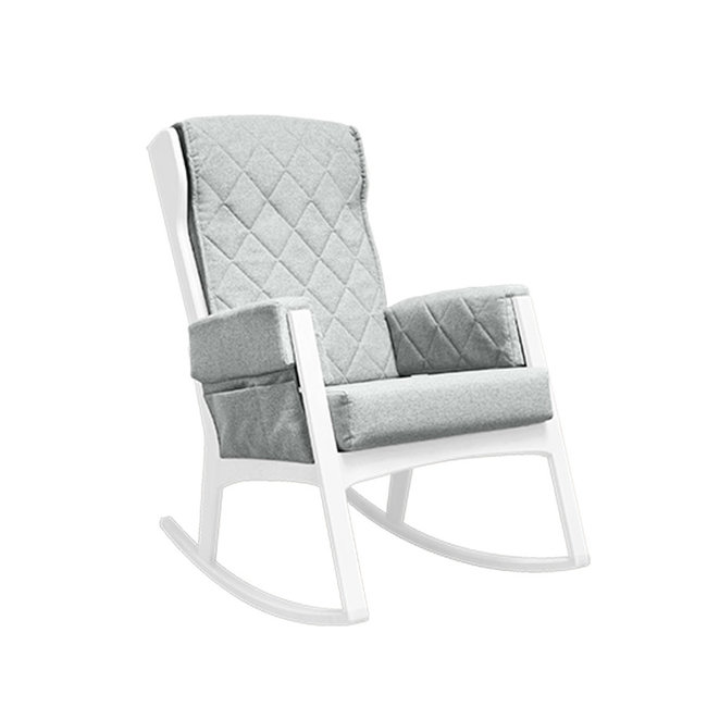 Dutailier Dutailier, Margot - Glider Chair, White Light Grey, Stock Program