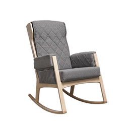 Dutailier Dutailier, Margot - Glider Chair, Natural Dark Grey, Stock Program