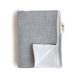 Maovic Maovic - Linen Bedspread, Les petites Natures, Plain Repose Grey