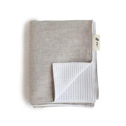 Maovic Maovic - Linen Bedspread, Les petites Natures, Plain Beige Hemp