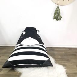 Cyan Degre Cyan Degre - Pouf à Billes/Bean Bag, Chat Noir/ Black Cat