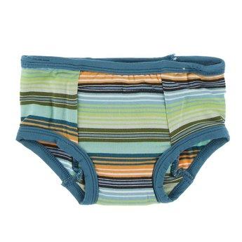 Kickee Pants Kickee Pants -  Set of 2 Training Pants, Seagrass Cactus & Cancun Glass Stripe