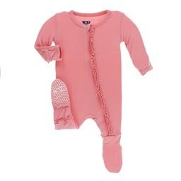 Kickee Pants Kickee Pants - Pyjama à Pattes, Strawberry Solid