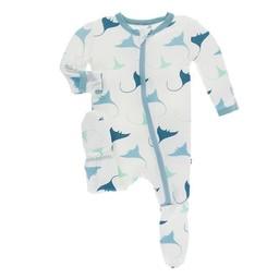 Kickee Pants Kickee Pants - Pyjama à Pattes, Natural Manta Ray