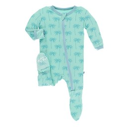 Kickee Pants Kickee Pants - Pyjama à Pattes, Glass Palm Trees