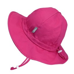 Jan & Jul Jan & Jul - Chapeau Soleil Ajustable en Coton, Rose Fushia