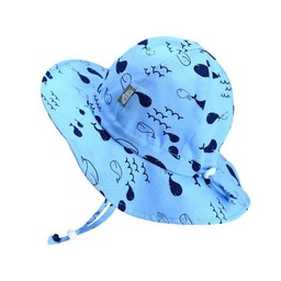 Jan & Jul Jan & Jul - Grow With Me Cotton Sun Hat, Whales