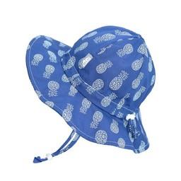 Jan & Jul Jan & Jul - Grow With Me Cotton Sun Hat, Geo Pineapple