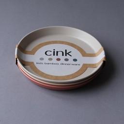 Cink Cink - Trois Assiettes en Bambou pour Bébé, Brick