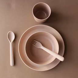 Cink Cink - Bamboo Dinnerware Set for Kids, Rye