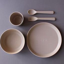 Cink Cink - Bamboo Dinnerware Set for Kids, Fog