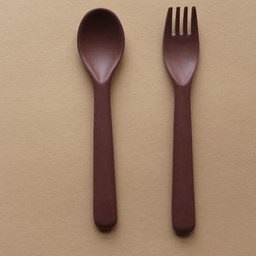 Cink Cink - Bamboo Spoon and Fork Set for Kids, Beet