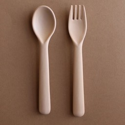 Cink Cink - Bamboo Spoon and Fork Set for Kids, Rye