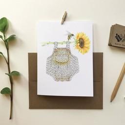 Katrinn Pelletier Illustration Katrinn Pelletier - Greeting Card, Romper and Sunflower