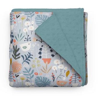Olé Hop Olé Hop - Minky Blanket,  Flower Garden