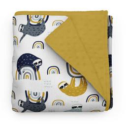 Olé Hop Olé Hop - Minky Blanket, Cheerful Sloth