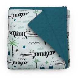 Olé Hop Olé Hop - Minky Blanket, Top Croc