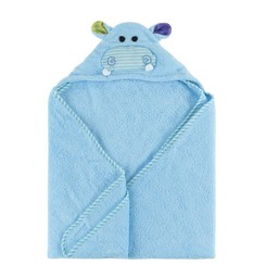Zoocchini Zoocchini - Hooded Baby Bath Towel, Henry the Hippo