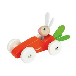 Janod Janod - Carrot Car on Wheels, Rabbit