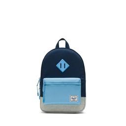 Herschel Herschel - Heritage Kids Backpack, Medieval Blue, Light Grey and Alaskan Blue