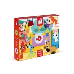 Janod Janod - Giant Tactile Puzzle, Pets