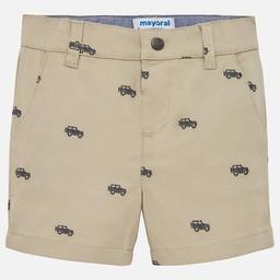 Mayoral Mayoral - Jacquard Chino Shorts, Beige