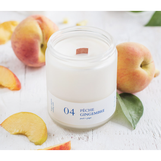 Flambette Flambette - 8oz Candle, Peach and Ginger