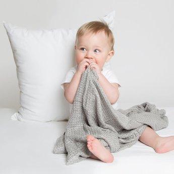 Perlimpinpin Perlimpinpin - Bamboo Knitted Blanket, Navy