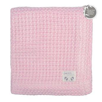 Perlimpinpin Perlimpinpin - Bamboo Knitted Blanket, Pink
