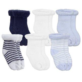 Kushies Kushies - Pack of 6 Pairs of Terry Socks, Blue